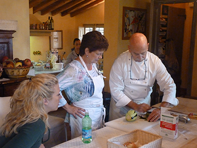 Cooking Lesson at the Country House