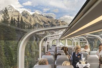 Gold Leaf service features Bi-level Glass Dome Coaches