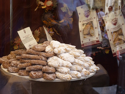 Typical Tuscan Cookies in a Shop Window